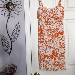 Tommy Bahama Orange & White Dress - Size Large